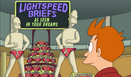 "Futurama, Episode ""A Fishful of Dollars"", when Fry finds out that in the future dreams are intercepted by advertisements."
