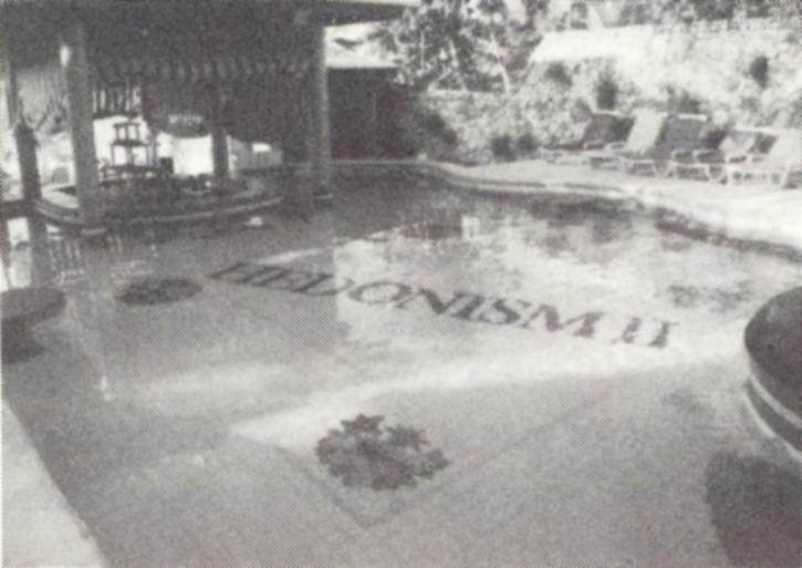 Het zwembad - een vakantiekiekje