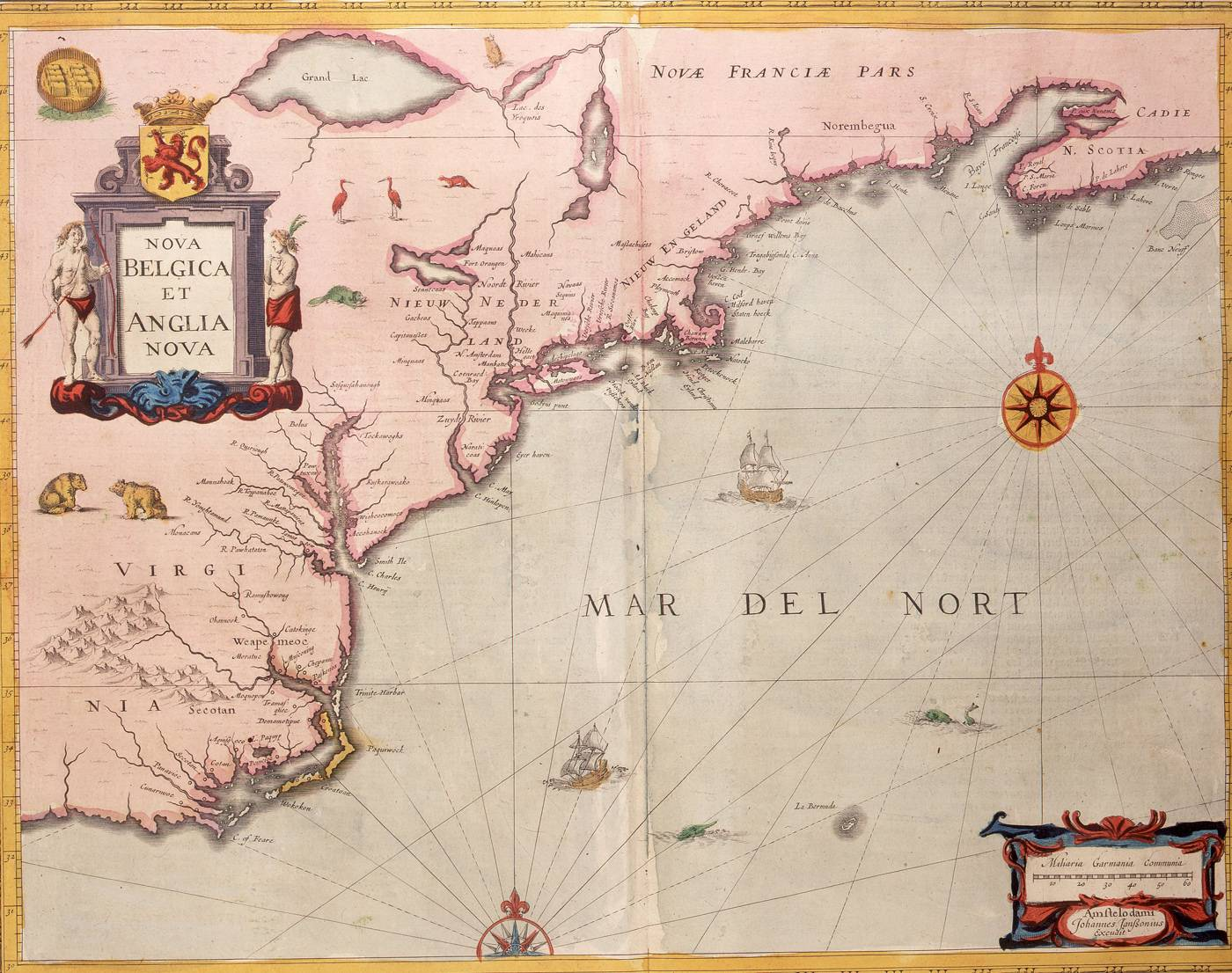 Jan Janssonius, 'Nova Belgica et Anglia Nova', 1647