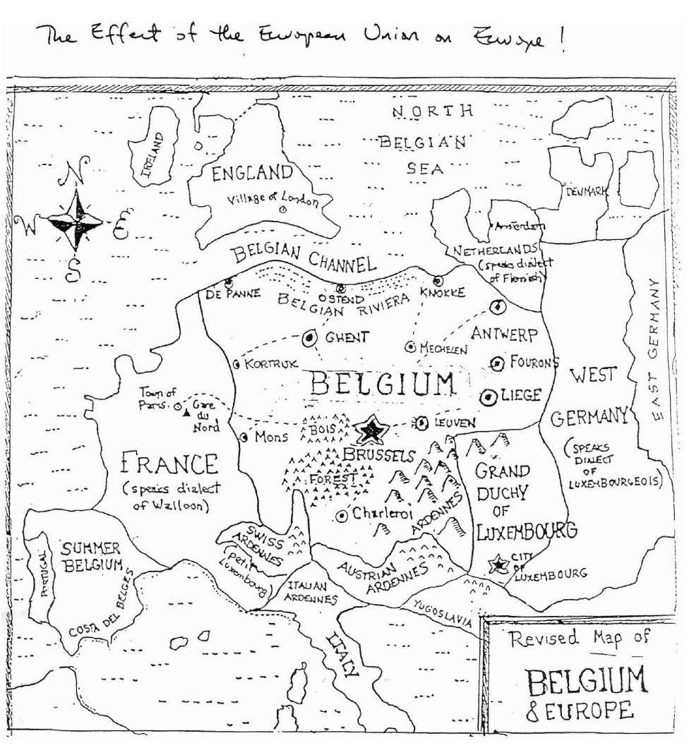 'A Belgocentric Map of Europe'. ©  (bigthink.com/ideas/21236)